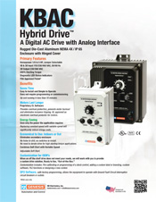 KBAC AC Drive Sales Sheet