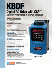 KBDF AC Drive Sales Sheet