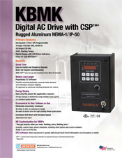 KBMK AC Drive Sales Sheet