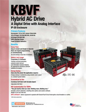 KBVF AC Drive Sales Sheet