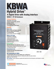 KBWA AC Drive Sales Sheet