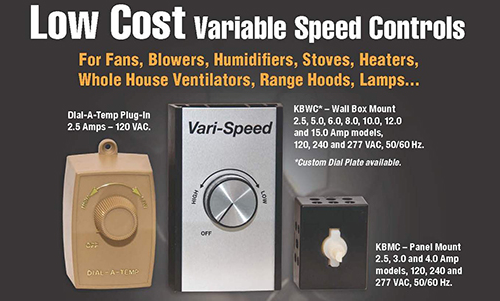 Low Cost Variable Speed Fan Controls